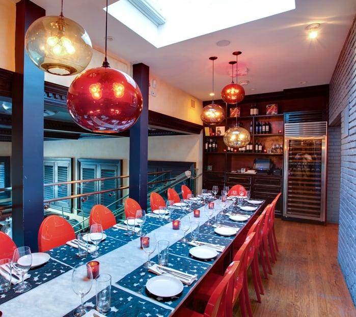 Terra Modern Pendant Lighting Over Dining Arrangement At Sra Martinez