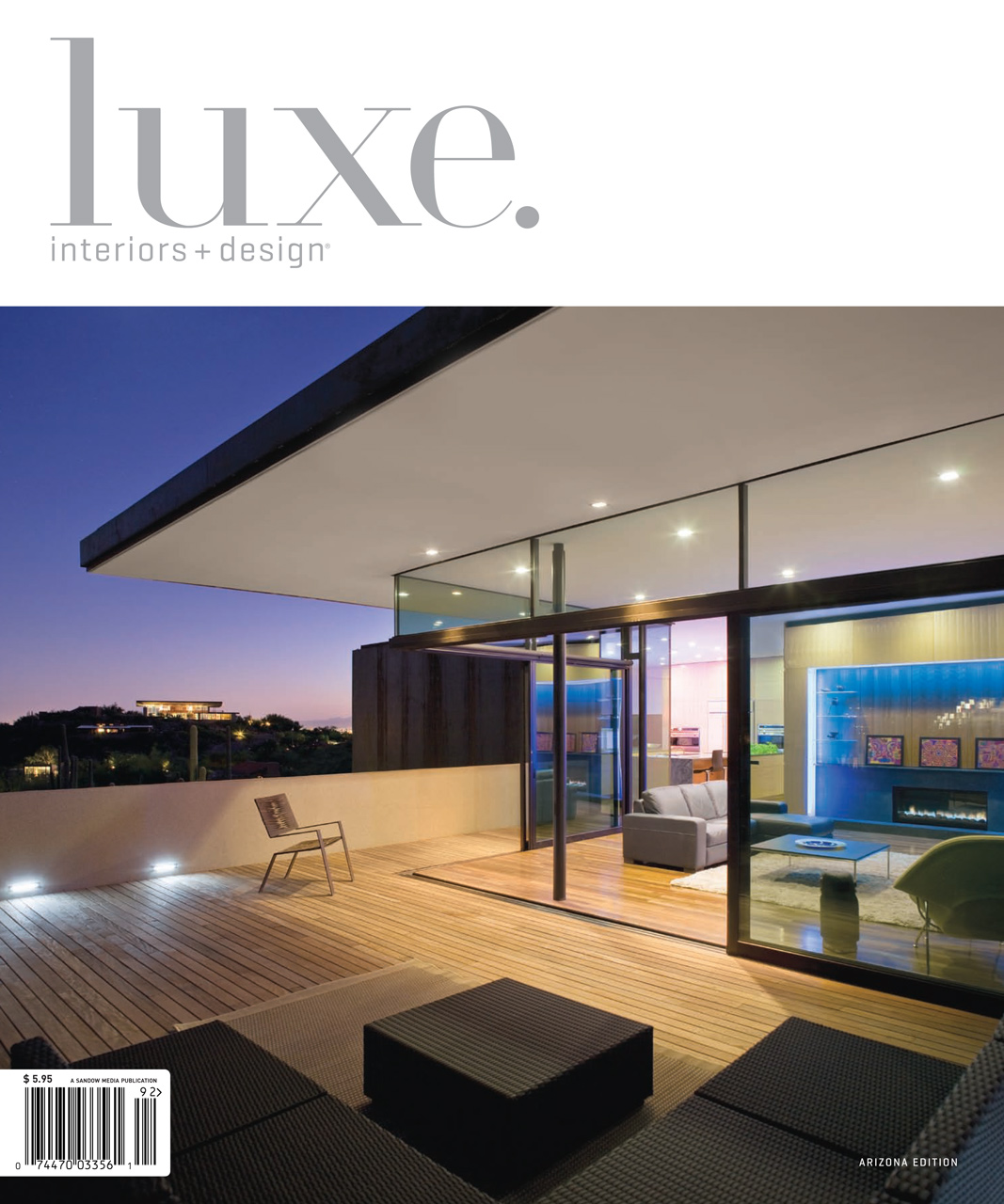 Luxe arizona features solitaire pendants at finger rock house for Modern interior design magazines