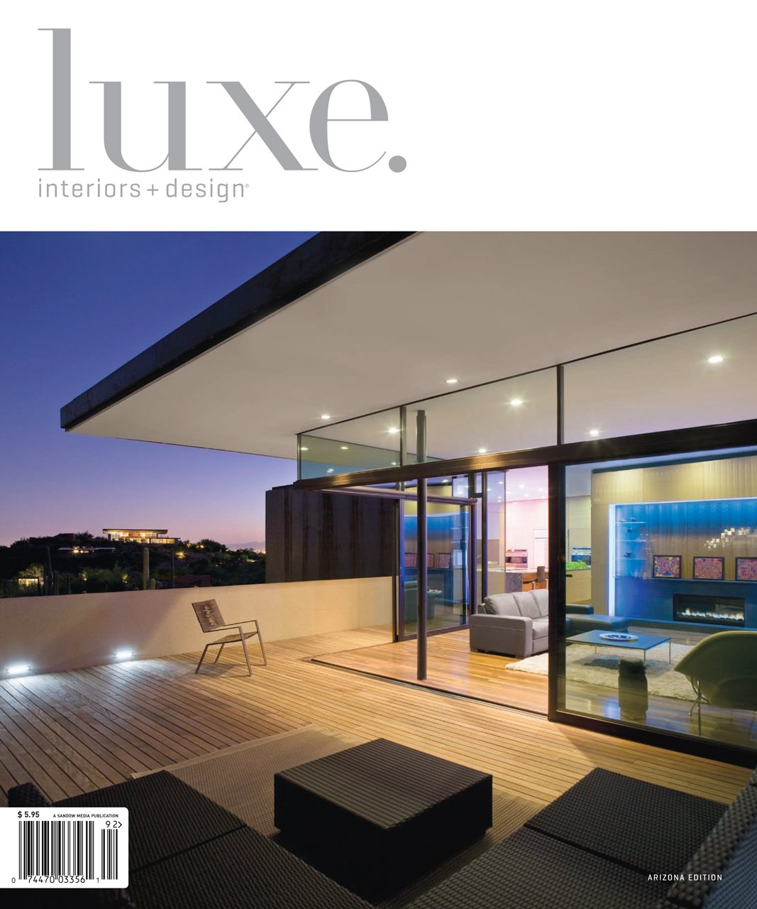 Luxe arizona features solitaire pendants at finger rock house Modern design magazine