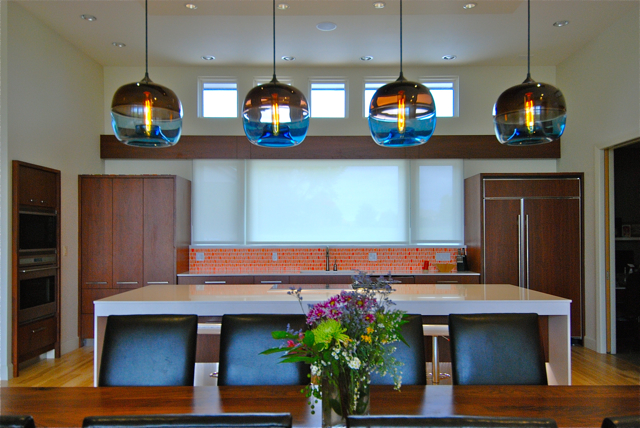 Encalmo stamen pendants spotted inside modern kansas home - Modern pendant lighting for dining room ...