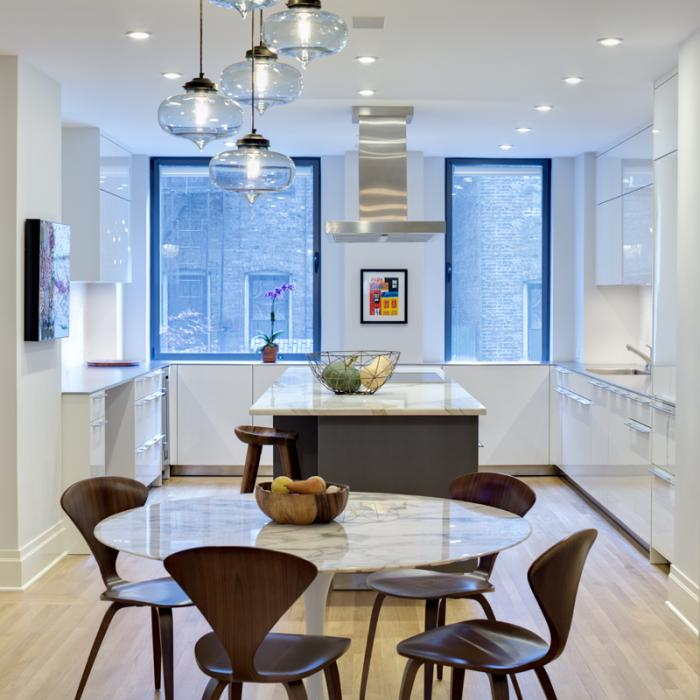 Niche Modern Circular 5 Chandelier in Upper East Side