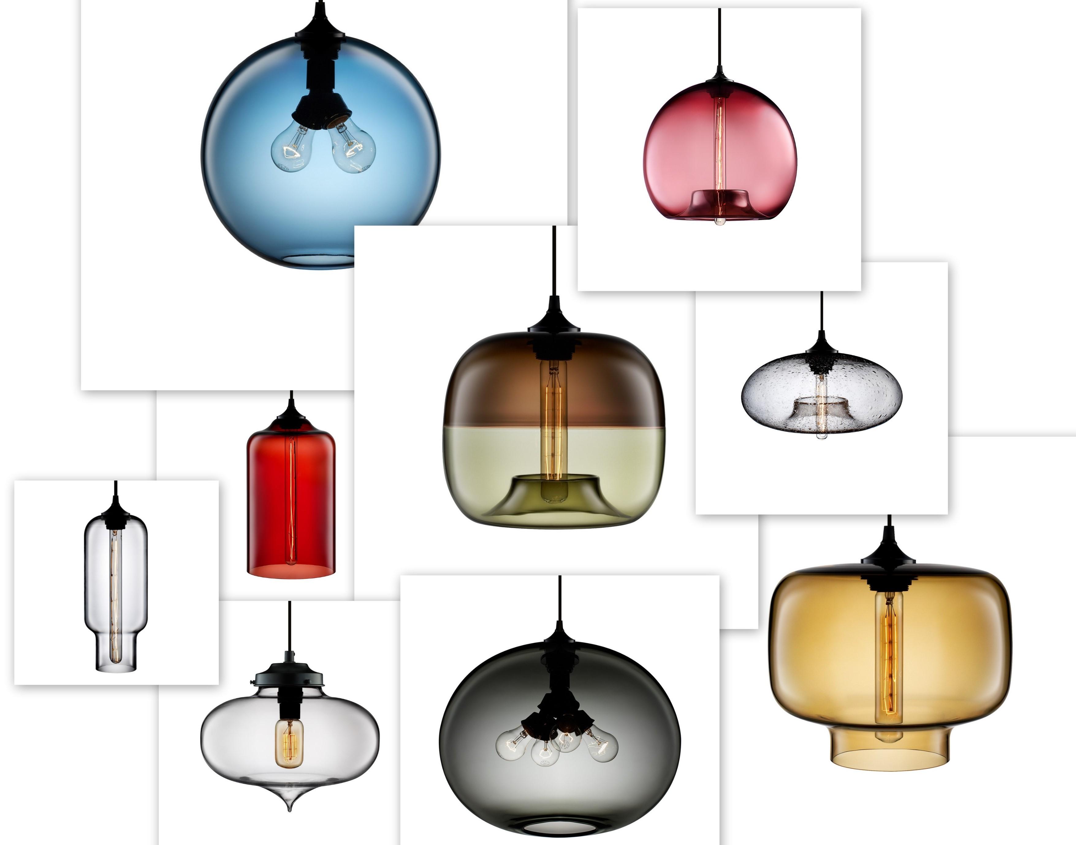 hand blown glass pendant lights. Black Bedroom Furniture Sets. Home Design Ideas