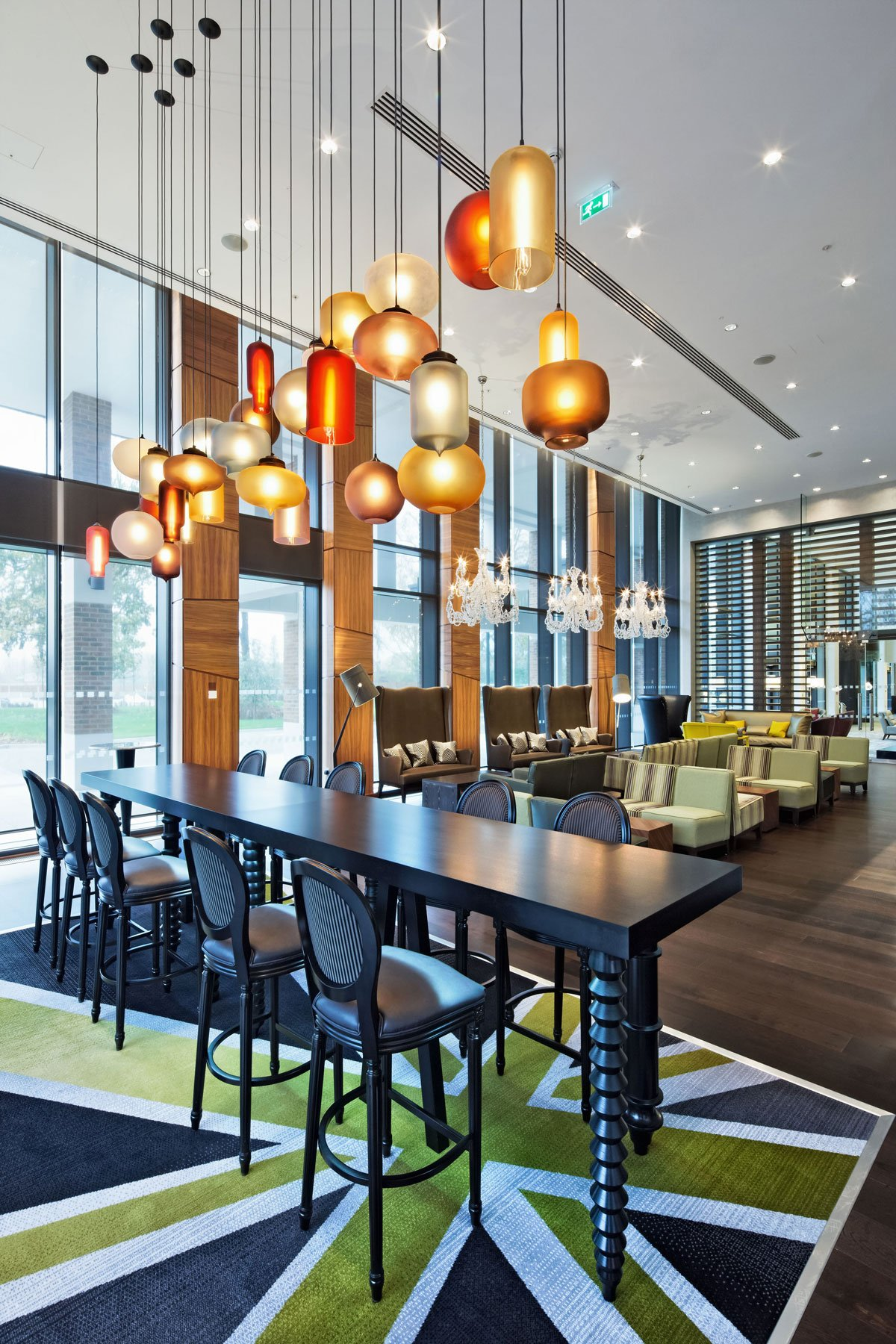 Dining Room Pendant Lighting niche modern pendant lights at the t5 hilton at heathrow in london