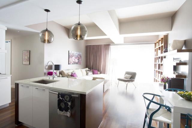 Kitchen Island Stamen Pendants Featured in Designer s