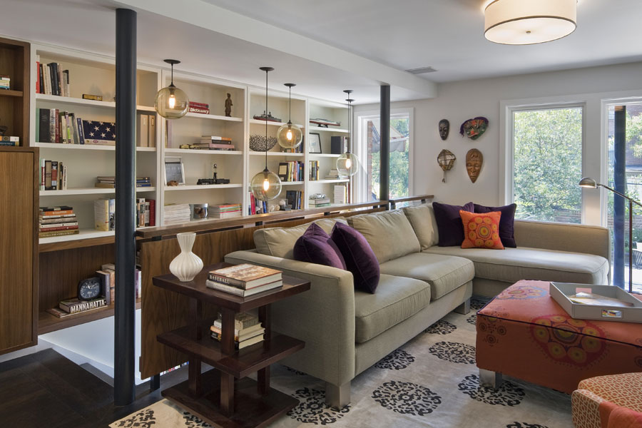 Solitaire Pendant Lights at Boerum Hill Residence