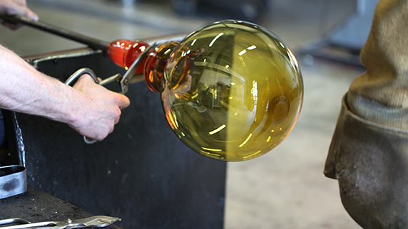 hand-blown glass orb