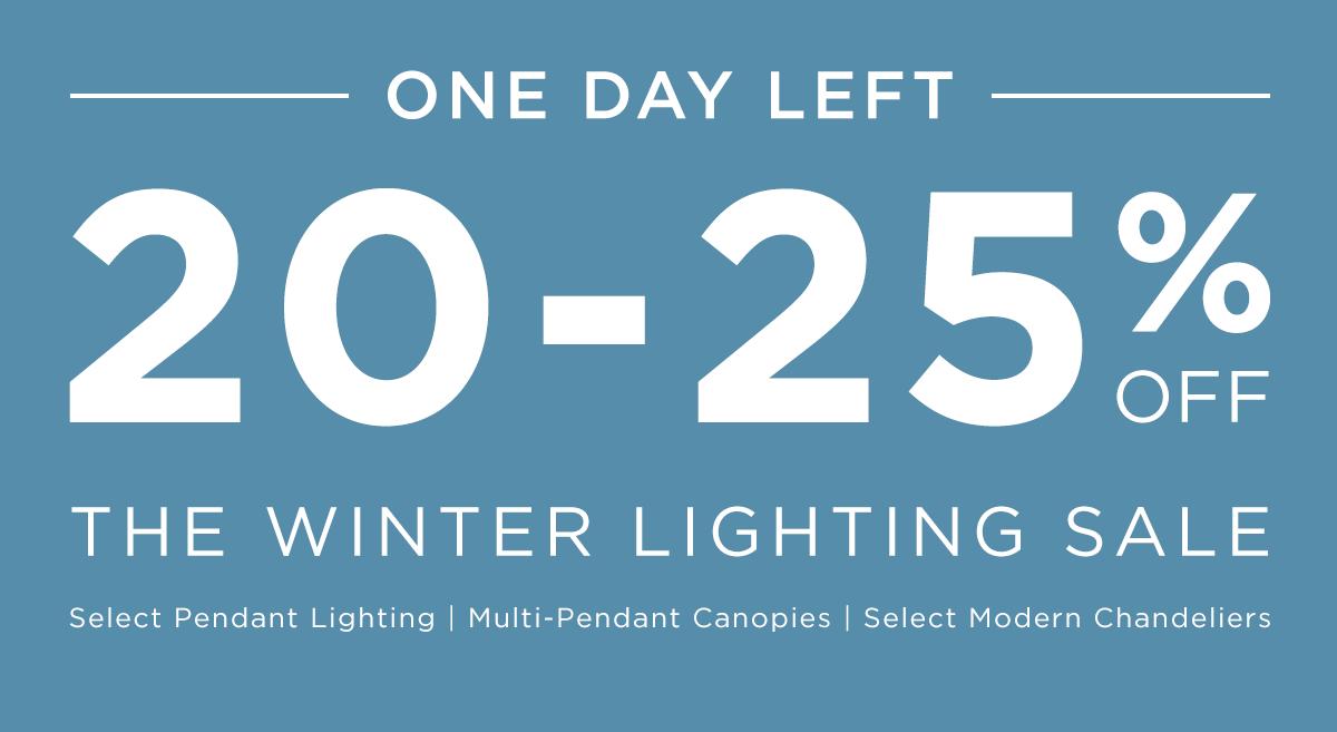 Winter Glass Pendant Lighting Sale Ends Tonight